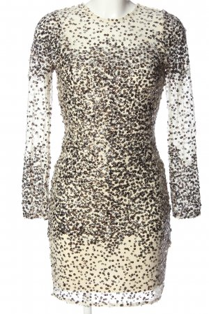 Bikbok Cekinowa sukienka w kolorze białej wełny Elegancki