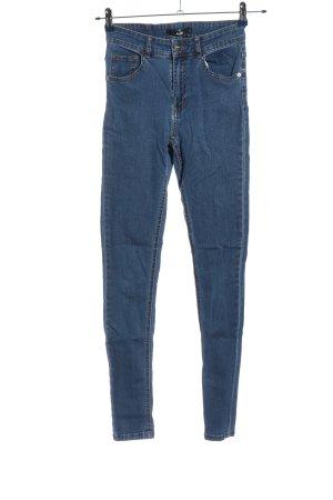 Bikbok Jeansy rurki niebieski W stylu casual