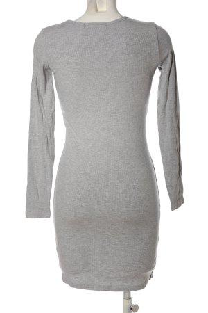 Bikbok Gebreide jurk lichtgrijs gestippeld casual uitstraling