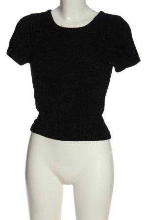 Bikbok Gebreid shirt zwart casual uitstraling