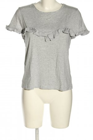 Bikbok T-shirt lichtgrijs gestippeld casual uitstraling