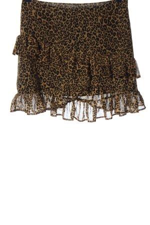 Bikbok Volanten rok bruin-zwart volledige print elegant