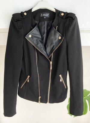 Attentif Biker Jacket black-gold-colored