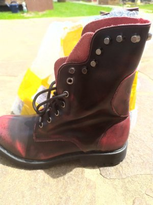 Ankle Boots dark red-brick red
