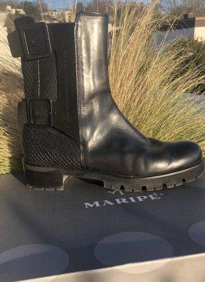 Maripé Botas del desierto negro-color plata