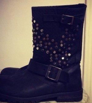 Buffalo Chelsea laarzen zwart Leer