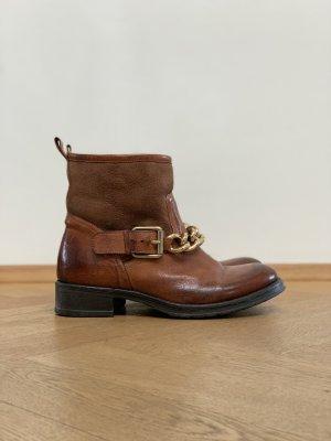 Biker Boots / Corvari Italy / Leder & Lammfell