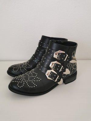 Zara Short Boots black-silver-colored