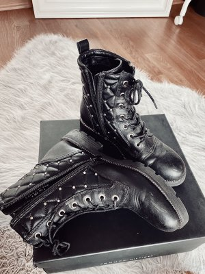 Ankle Boots black-gold-colored