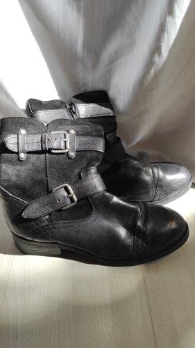 Buffalo Botte courte noir cuir