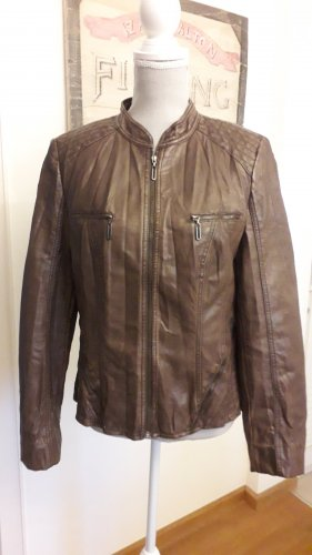 Betty Barclay Biker Jacket brown red