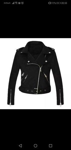 Basic Veste en cuir synthétique noir