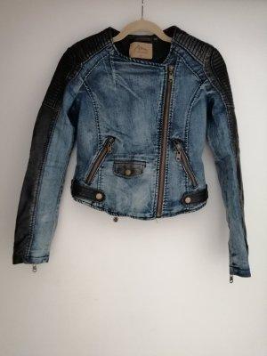 Biker Jacke Jeans/Kunstleder