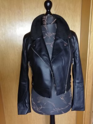 Ivyrevel Biker Jacket black-silver-colored polyester