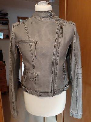 Vestino Chaqueta de motociclista marrón grisáceo Imitación de cuero