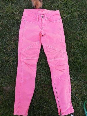 Closed Jeansy typu biker różowy-różowy