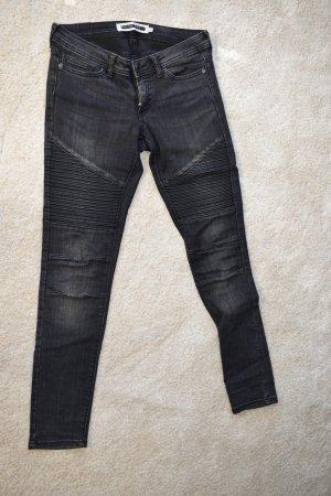 Noisy May Jeans de moto noir