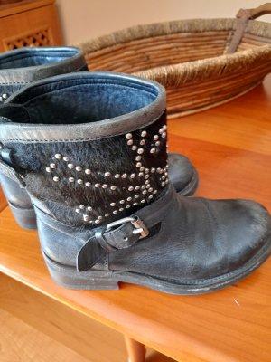 ASH Enkellaarzen zwart-zilver