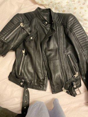Zara Basic Chaqueta de motociclista negro