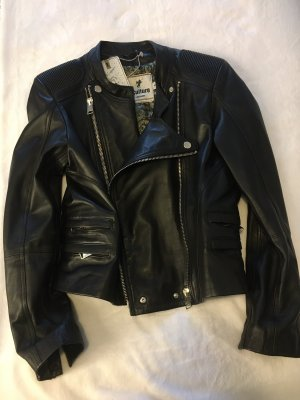 Biker Jacket black-silver-colored