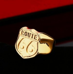 Route 66 Statement ring goud