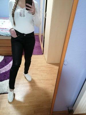 Biker Schwarze Skinny Jeanshose von H&M