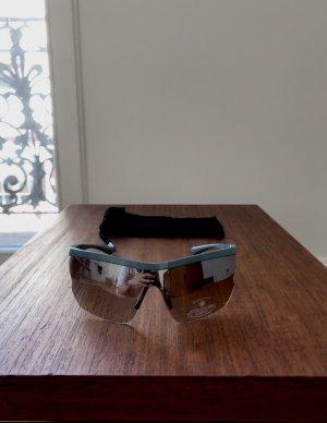 Mango Hoekige zonnebril azuur