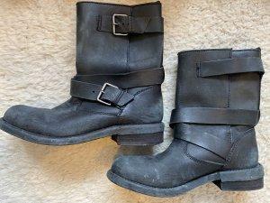 Zara Boots western noir-argenté