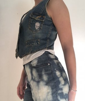 Smanicato jeans multicolore