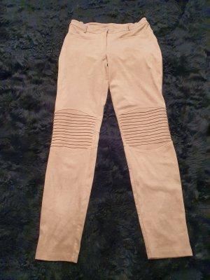 Jeans da motociclista sabbia-marrone chiaro