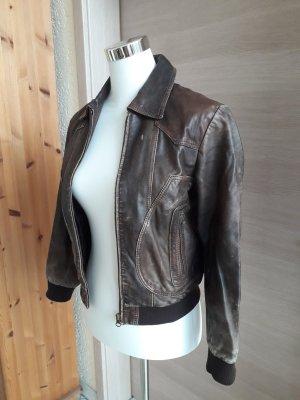 ARMA Veste en cuir synthétique brun foncé