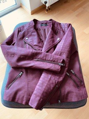 Only Biker Jacket dark red