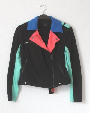 Veste motard multicolore polyester