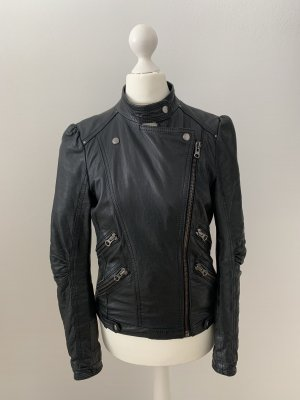Bikerjacke aus Leder von Zara Woman