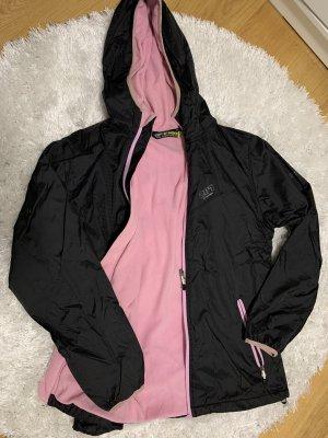 Veste motard noir-rose