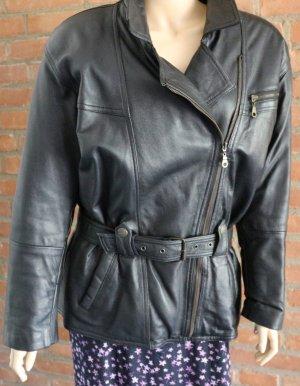 Bikerjacke Damen aus softem weichem Leder - Größe M
