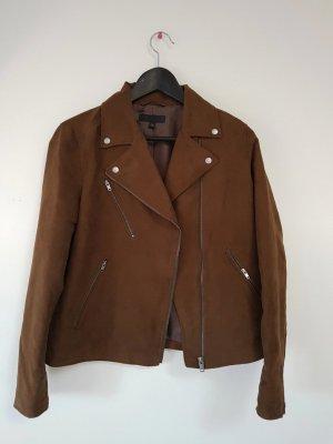Uniqlo Biker Jacket brown-cognac-coloured