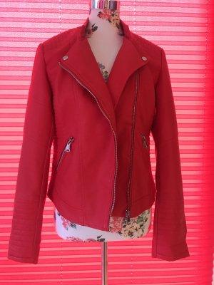 Colloseum Veste motard rouge acrylique