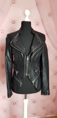 Julie Faux Leather Jacket black