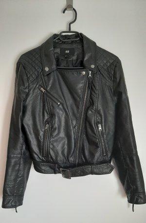 H&M Bikerjack zwart Polyester