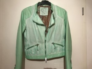 Liberty Giacca da motociclista verde pallido Tessuto misto