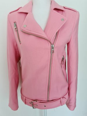 Bikerjacke Jacke Übergangsjacke Kurzmantel Mantel in rosa von H&M 36