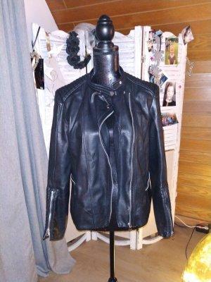 H&M Giacca da motociclista nero Finta pelle