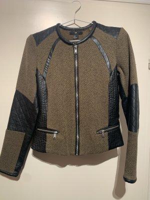 H&M Biker Jacket black-green grey