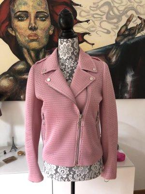American Retro Biker Jacket light pink polyester