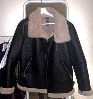 Primark Biker Jacket cream-black