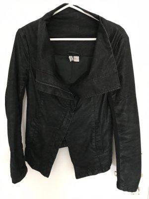 H&M Biker Jacket black mixture fibre