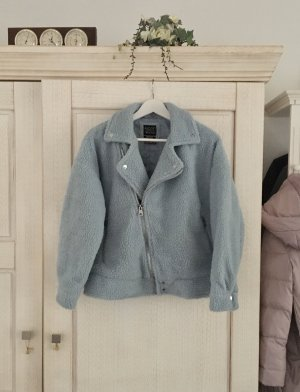 Alcott Fake Fur Jacket pale blue polyester