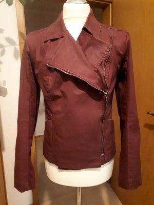 BC Biker Jacket bordeaux cotton
