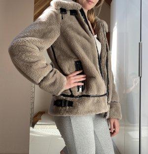Oakwood Biker Jacket grey brown